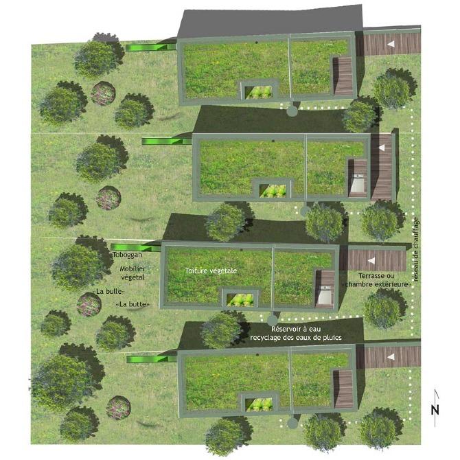 2012 habitat individuel groupe in and out e baranger - Plan de masse maison individuelle ...